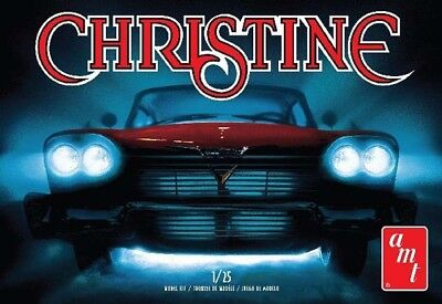 1958 Plymouth Belvedere *Christine* rot red, 1:25 AMT Model Kit Bausatz AMT 801