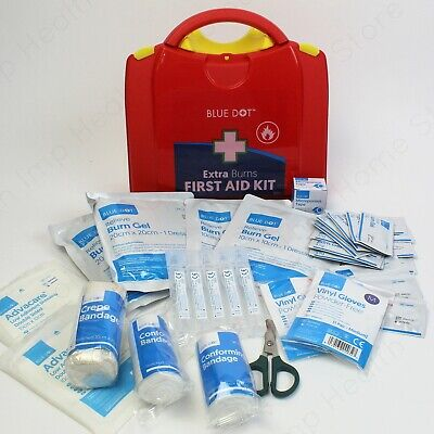 Emergency Burncare with Burn Dressing Products in First Aid Kit or Refills