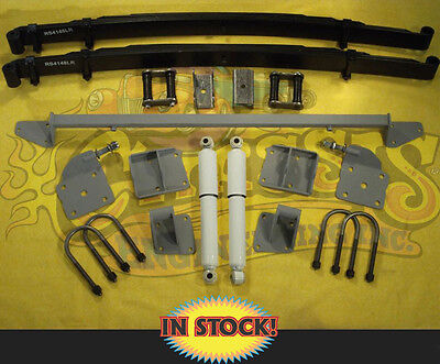 Complete Rear Leaf Spring Mounting Kit for 1936 Chevy Standard - AS-1017CG