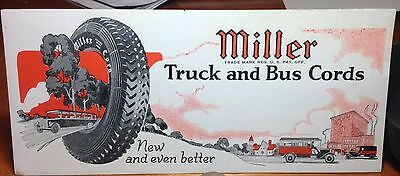 Vintage Early Advertising Blotter Miller Truck and Bus Cords Tires