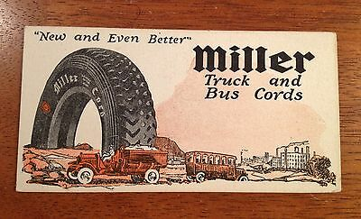 Early Advertising Blotter Miller Truck and Bus Cords Tires