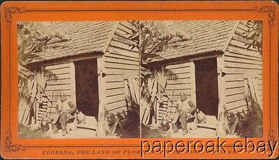 1880's Stereoview Of Uncle Jack Former Slave In Florida