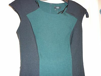 Dress size 8 colour block green/black new 37 inch long