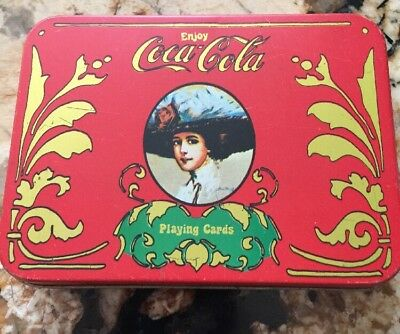 Vintage Coca-cola Playing Cards In Original Tin