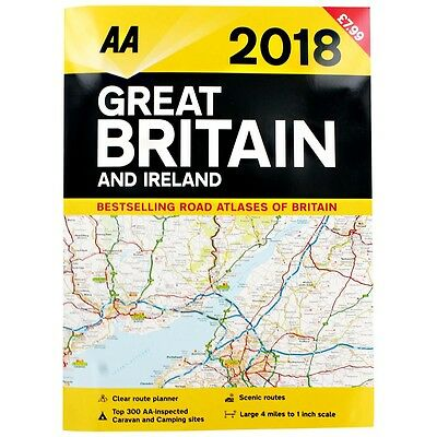 2018 AA Great Britain and Ireland Road Atlas (Road Map) WH2 -R6A-1 - 633 : NEW