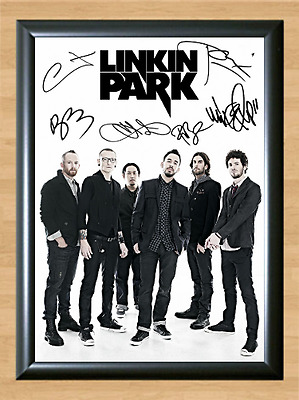 Chester Bennington Linkin Park Signed Autographed A4 Photo Poster Memorabilia cd