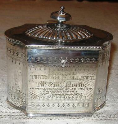 Victorian Silver Plated Tea Caddy (W. & H.)