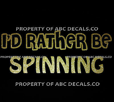 VRS ID RATHER BE DJ SPINNING Disc Jockey TurnTable LP Vinyl CAR METAL DECAL