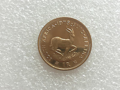 1978 22ct GOLD 1 RAND South Afica PROOF Coin,.. a Lovely Clean Coin