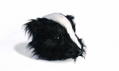 Furry Black & White Skunk Mask Funny Animal Head Piece Costume Ideas
