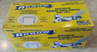 "Arrow HT65S Staples 3/4"" case of 2400"