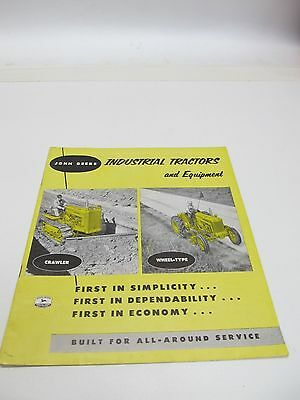 John Deere Industrial Tractors And Equipment 1954 Brochure