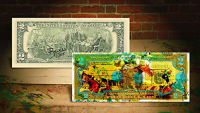 AMERICAN PHAROAH TRIPLE CROWN Horse Racing RENCY $2 Bill Signed # of 215 Banksy