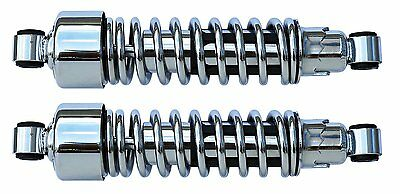 """Ultima 14"""" Complete Chrome Plated Shock Assemblies For Most Harley and Customs"""