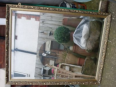 Shabby Chic Large Gold framed Bevelled  mirror