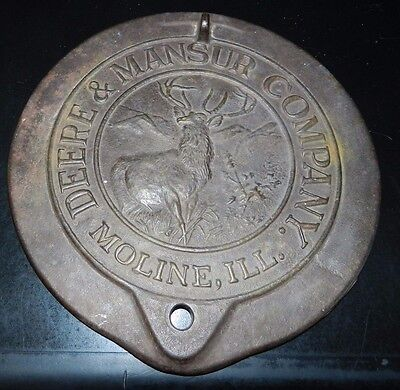 Antique John Deere Mansur Horse Drawn Seed Corn Planter Lid Cast Iron Cover