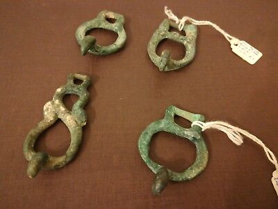 antique chinese bronze han dynasty period 2nd BC_2nd AD small belthooks