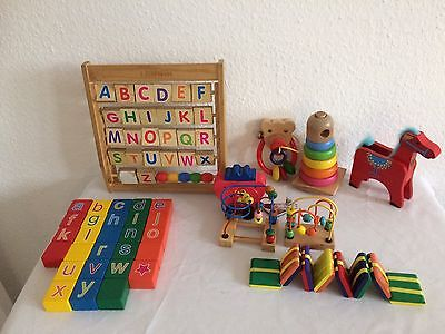 Pre-owned  Job Lot of  Baby Wooden Toys