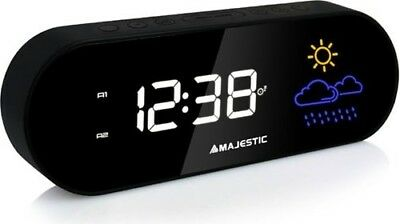 New Majestic Radiosveglia Digitale FM Snooze/Sleep umidità/Meteo 109401 RSW-401