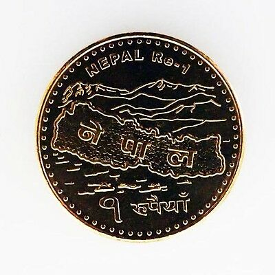Nepal 1 Rupee 2009 Proof Like Uncirculated *FREE USA SHIPPING*