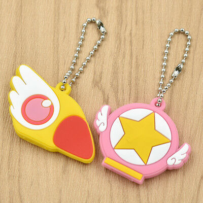 Anime Card Captor Sakura Silicone Keychain Case Shell Key Cover Key Cap Cartoon