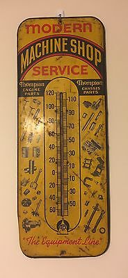 Vintage Thompson Products Oil Machine Shop Chassis Thermometer Display Sign