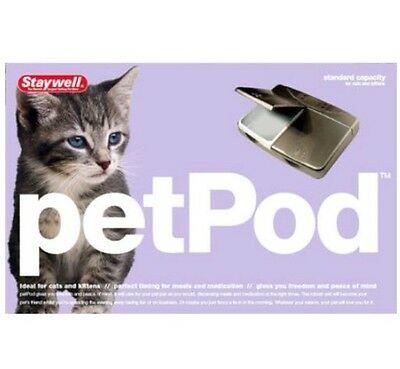 Petsafe Staywell Ped Pod 160Ml Feeder Programmable To Give Cats Individual Meals