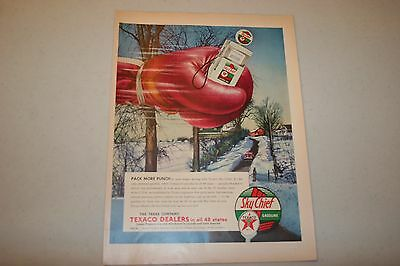 """Vintage  1954 Texaco  """"pack More Punch"""" Print Ad"""