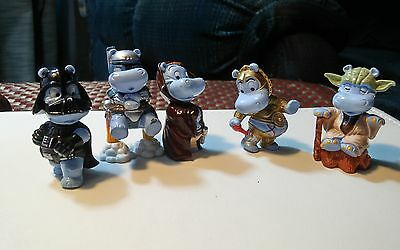 5 Pieces Assorted Toys From 90s Kinder joy star wars hippos