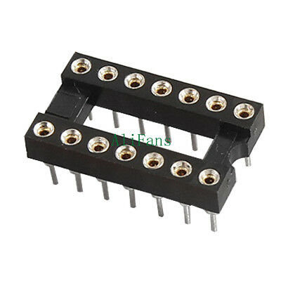 5PCS 14Pin DIP SIP Round IC Sockets Adaptor Solder Type Gold Plated Machined