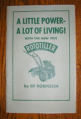 Vintage 1952 Roto-Ette Rototiller Advertising Usage Booklet by Ed Robinson