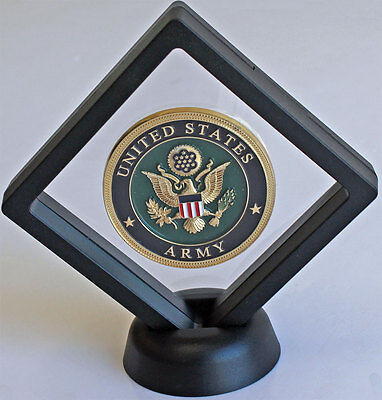 Display Stand Floating Challenge Coin Medal ANY Coin Holder Display Case CN14