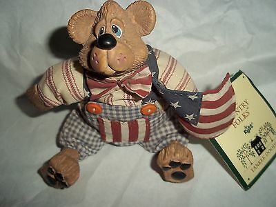 russ berrie country folk Yankee Doodle soft sculpture, kathleen kelly, pre-owned