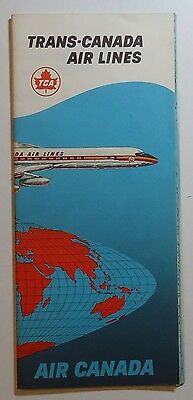 Trans-Canada Airlines 1960 Route Map Brochure