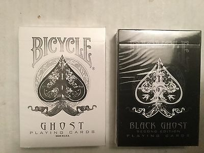 Bicycle Ghost - Playing Cards (Black & White 2-Deck Set)  - Ellusionist