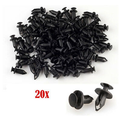 20pcs 8mm ATV Plastic Fender Clips For Honda TRX Foreman Kawasaki Suzuki Polaris
