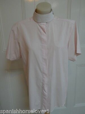 Dublin Pale Pink Dressage Ratcatcher Shirt-Ladies 12 Equestrian Horse Riding