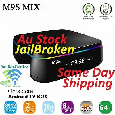 M9S Mix S912 2Ghz 2G/16GB Wifi 2.4/5Ghz Kodi16.1 Smart Box