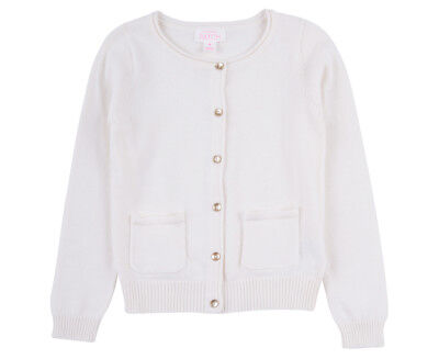 Pumpkin Patch Girls' Carly Rose Cardigan - French Vanilla