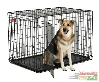 "Collapsible Metal Pet Dog/Cat Cage, 24"" 30"" 36"" 42"" 48"" Portable Crate/Kennel"