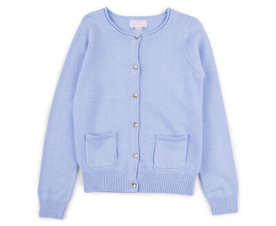 Pumpkin Patch Girls' Carly Rose Cardigan - Kentucky Blue