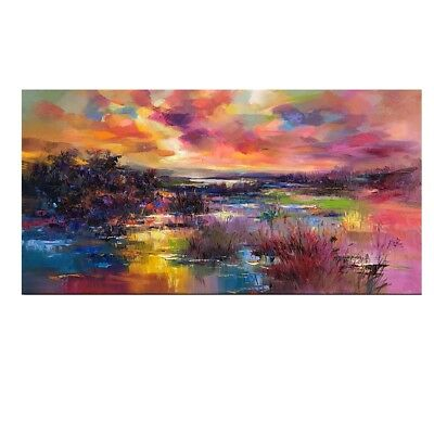 Modern Hand-painted Oil Painting Abstract Art Decor On Canvas Unframed 60*120cm