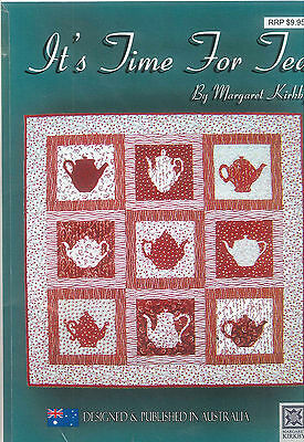"""Quilting/Patchwork Pattern """"It's Time for Tea"""" ** FREE POSTAGE **"""