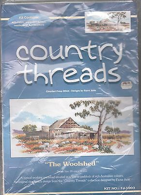 Country Threads  The Woolshed - Counted Cross Stitch Kit
