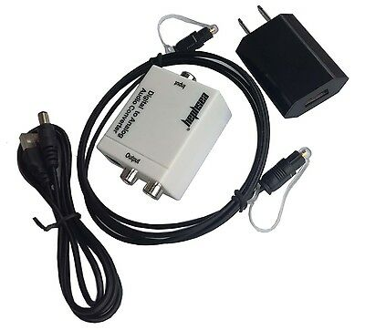 SPDIF Toslink Optical Coaxial Digital to Analog Audio Converter Adapter RCA L/R