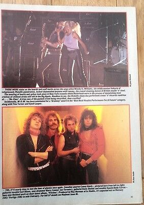 LEMMY WENDY O WILLIAMS CONEY HATCH magazine PHOTO/Poster/clipping 11x8 inches