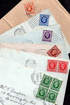 GB KGV 1934 Photogravure 6 x values on covers WS5281