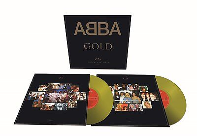 Abba Gold Greatest Hits 25th anniversary GOLD vinyl 2 LP +download NEW/SEALED