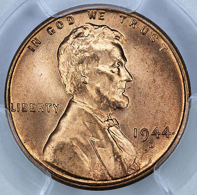 1944-D PCGS MS66+RD Lincoln Cent