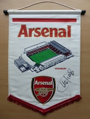 Official Arsenal Highbury Pennant Signed by Charlie George (11190)